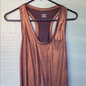 A.N.A- long brown stretchy tank top with a shimmer
